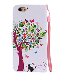 For iPhone 6 Case / iPhone 6 Plus Case Card Holder / with Stand Case Full Body Case Tree Hard PU LeatheriPhone 6s Plus/6 Plus / iPhone