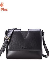 M.Plus® Women's Fashion Solid Genuine Leather Messenger Shoulder Bag