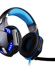 kotion chaque g2200 jeu casque usb 7.1 Entourer système de vibration de casque micro stéréo rotatif mené