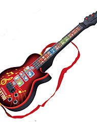 Guitar Shape Music Toy ABS Red / Black