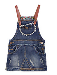 Girl's Blue Jeans Cotton Summer / Spring