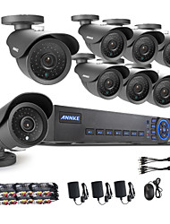ANNKE® 8CH 960H DVR eCloud HDMI 1080P/VGA/BNC Output  8pcs 900TVL CMOS 42LEDS Day/Night IR-cut Cameras IP66