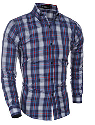 Men's Long Sleeve Shirt,Cotton Casual Plaids