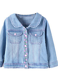 Girl's Blue Jacket & Coat Cotton Spring / Fall