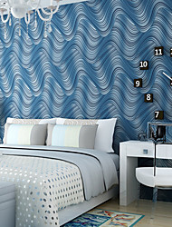 Contemporary Wallpaper Art Deco 3D Wave Stripe Wallpaper Wall Covering Non-woven Fabric Wall Art