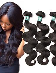 """3 peças / lote 8 """"-30"""" cabelo virgem malaio onda do corpo 5a tramas 100% Remy feixes de cabelo humano emaranhado grátis"""