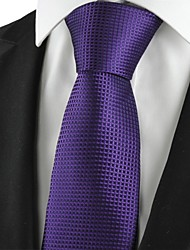 New Plaid Checked Purple Classic Men Tie Formal Suit Necktie Holiday Gift KT1030