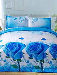 Baolisi 3D Fashion Comfortable Print Bedding Four Piece Comforter Set Queen Size