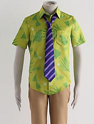 Inspiriert von Kerbe Anime Cosplay Kostüme Cosplay Kostüme Druck Grün Shirt / Hosen / Krawatte