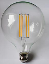 1 pcs kwb e26 / e27 8w 8 cob 980 lm blanc chaud / ambre g125 ampoules à fil filé 85-265 v