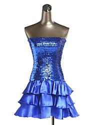 Одежда для вечеринки Платья Жен. Выступление Полиэстер / Органза Блестки 1 шт. Платья 62