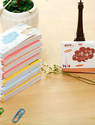 1PC 50 Pages Of The Portable Cartoon Mood Post-It Notes(		Random color)