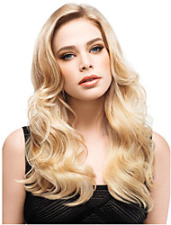 The New Europe and The United States Women Synthetic Wig Long Iinclined Bang Golden Waves Wig