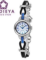 KEDIEYA Womens Luxury Leather Steel Bracelet Zircon Diamond Waterproof Sapphire Glass Japan Miyota Quartz Watches Cool Watches Unique Watches