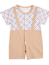 Girl's Brown Clothing Set Cotton Summer / Spring