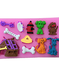 Dog Style Sugar Candy Fondant Cake Molds  For The Kitchen Baking Molds