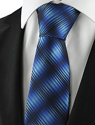 New Striped Gradual Blue Mens Tie Formal Suits Necktie Party Wedding Gift KT1064