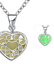 Necklace Pendant Necklaces Jewelry Wedding / Party / Daily Alloy / Silver Plated Silver / Blue / Green / Purple 1pc Gift