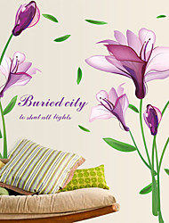 Wall Stickers Wall Decals Style Purple Flower PVC Wall Stickers