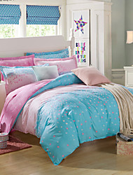 Small stars 100% CottonBedclothes 4pcs Bedding Set Queen Size Duvet Cover Set