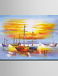 Mini Size E-HOME Oil painting Modern Sea Sailing Pure Hand Draw Frameless Decorative Painting