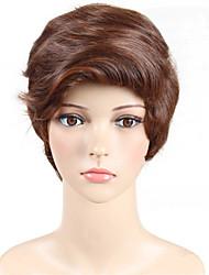 requintado comprimento médio peruca sintética marrom reta das mulheres