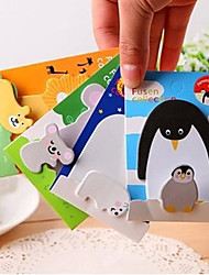 1PC/Lot Animals Memo Pad Paper Sticker Post It Sticky Notes Kawaii Stationery Papelaria School Supplies Random Color