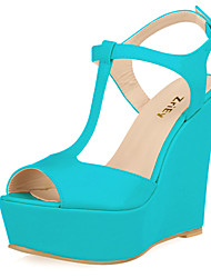 Women's Shoes Leatherette Wedge Heel Wedges / Heels / Peep Toe / Platform / Open Toe Sandals Party & Evening