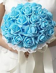"""Bouquets de Noiva Redondo Rosas Buquês Espuma 9.84""""(Aprox.25cm)"""