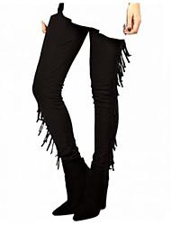 Pantaloni Da donna Skinny Casual Poliestere Media elasticità