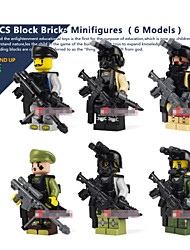 6piece/lot Models Building Block Bricks Minifigures Series Snipper Rifile For Children Enlighten Plastic