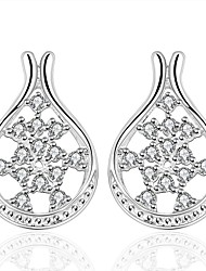Silver Plated Fashion Luxury Jewelry Jewelry Silver Jewelry Wedding Party Daily Casual Sports 1 pair