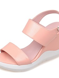 Women's Shoes Wedge Heel Wedges Sandals Party & Evening / Dress / Casual Blue / Pink / White / Gold