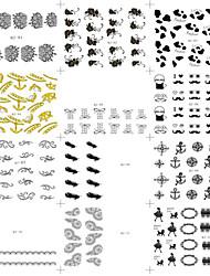 Autocolantes de Unhas 3D / Pontas de Meia Unha / Pontas de Unha Completa / Outras Decorações-Desenho Animado / Abstracto / Adorável / Punk