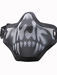 Outdoor Sports Metal Mesh Half Face Military Mask Defensive Mask
