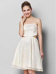 TS Couture Cocktail Party Prom Dress - Short A-line Strapless Knee-length Sequined with Sequins