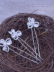 Flower Girl's Rhinestone / Alloy Headpiece-Wedding / Special Occasion / Casual / Outdoor Hair Pin (3 Pieces/set)