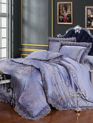 yuxin®tencel raso tessuto modale suite di nozze biancheria da letto jacquard 4 pezzi biancheria da letto di 1.5m-1.8m / 2.0m letto