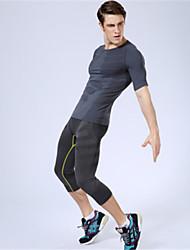 Laufen 3/4 Strumpfhosen/Corsaire / Unten Herrn Atmungsaktiv / Rasche Trocknung / Videokompression Elasthan / Polyester Übung & Fitness