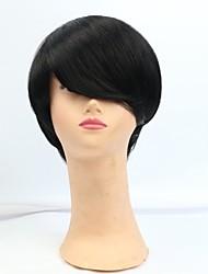 rihanna cortar perucas de cabelo humano não transformados remy virgem brasileira máquina glueless nenhum laço curto fez perucas de cabelo
