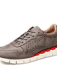 Men's Sneaker Shoes Leather Blue