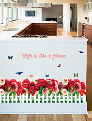 Floral Stickers muraux Stickers avion,PVC 50X70X0.1