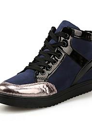 Scarpe Donna-Sneakers alla moda-Tempo libero / Formale / Casual-Comoda-Piatto-Finta pelle-Nero / Blu / Kaki