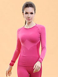 Women's Long Sleeve Sport Tops Breathable/Quick Dry/Low-friction/Soft/Wicking Pink/Blue Yoga/Pilates/Fitness