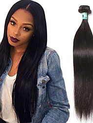 "1 Pc /Lot 12""-30"" 5A Brazilian Virgin Hair Straight Human Hair Extensions 100% Unprocessed Brazilian Remy Hair Weaves"