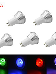 5pcs 3W E27/E14/GU10/GU5.3 RGB Color Changing LED Light Bulb Lamp with Remote Control(85-265V)