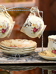Ceramic Tea Cup 4*3pcs Afternoon Tea China British Style