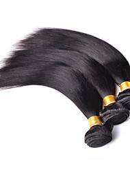 "3Pcs Lot 8""-30"" Brazilian Virgin Hair Straight Natural Black Human Hair Weave Bundles Shed & Tangle Free Hair Extensions"
