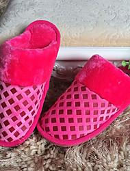 DamenLässig-Stoff-Flacher Absatz-Pantoffeln-Rosa / Lila / Rot