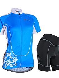 NUCKILY® Cycling Jersey with Shorts Women's Short SleeveWaterproof / Breathable / Rain-Proof / Anti-Eradiation / Reflective Strips /